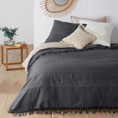couvre lit gris métallisé Couvre lit gris   La Redoute couvre lit gris métallisé