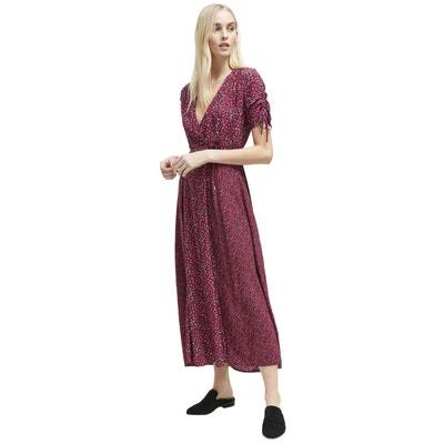f645557d5d1d1 Robe longue fleurie manches courtes FRENCH CONNECTION