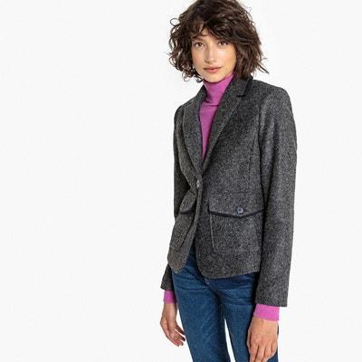 Blazer drap de laine La Redoute Collections