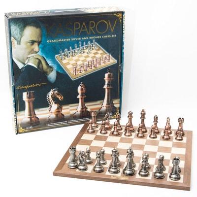 Jeu d'échecs argent et bronze grand maître Kasparov Jeu d'échecs argent et bronze grand maître Kasparov FRANCE CARTES
