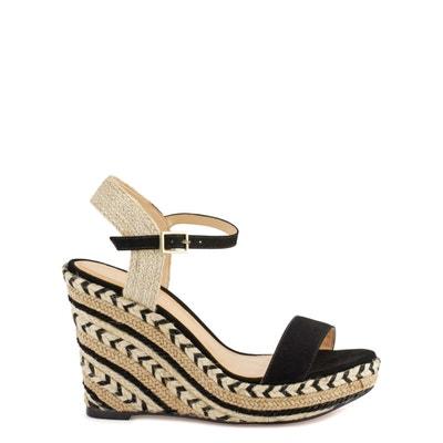 Agaya Leather Wedge Sandals COSMOPARIS