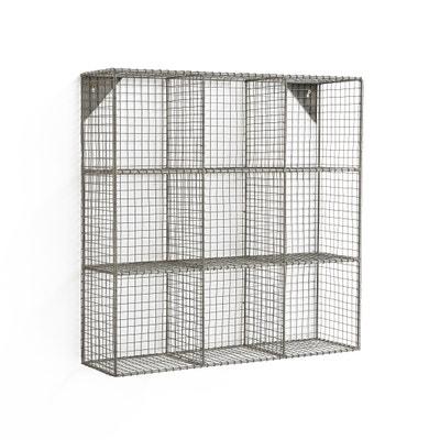 Estante de pared con 9 casiers, AREGLO de metal Estante de pared con 9 casiers, AREGLO de metal La Redoute Interieurs