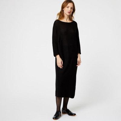 Robe longue en laine en solde   La Redoute 582eea005398