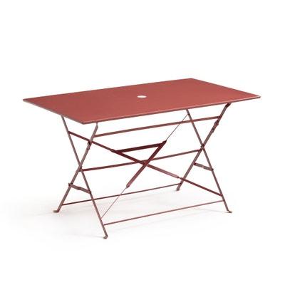 Ozevan Rectangular Metal Folding Table Ozevan Rectangular Metal Folding Table La Redoute Interieurs