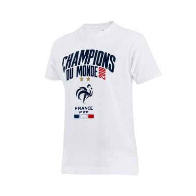 T-shirt France Champions du Monde 2018 Blanc Junior MADE IN SPORT