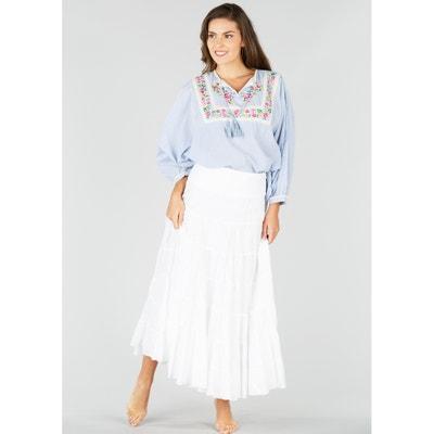 Plain Long Skater Skirt RENE DERHY