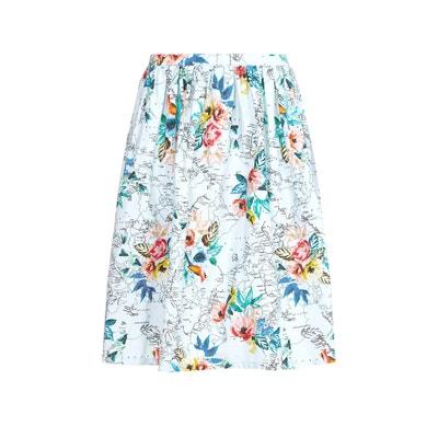Юбка длиной до колен с цветочным рисунком Юбка длиной до колен с цветочным рисунком YUMI