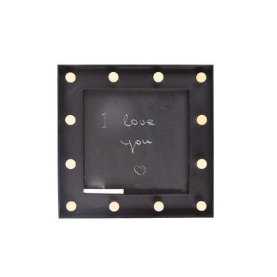 Ardoise mémo lumineuse - 30 x 30 cm - Noir Ardoise mémo lumineuse - 30 x 30 cm - Noir HEART OF THE HOME