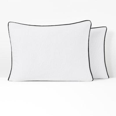 PAVONE Washed Cotton Satin Pillowcase PAVONE Washed Cotton Satin Pillowcase La Redoute Interieurs