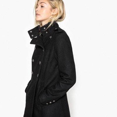 Manteau femme noir style militaire