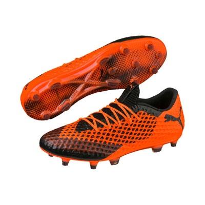 15b272c0efb97 Chaussures football Puma Future 2.1 Netfit Low Orange Noir PUMA
