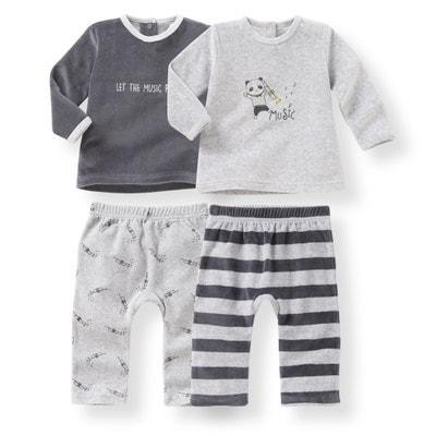 Conf. da 2 pigiama 2 pezzi velluto - Oeko Tex La Redoute Collections