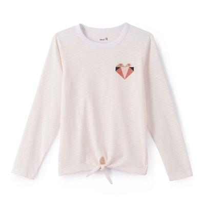 """T-shirt maniche lunghe """"cuore"""" da 3 a 12 anni T-shirt maniche lunghe """"cuore"""" da 3 a 12 anni La Redoute Collections"""
