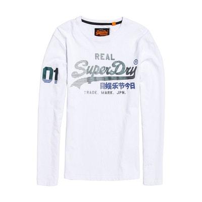 d29b21b829e4b T-shirt col rond Vintage Logo, manches longues SUPERDRY