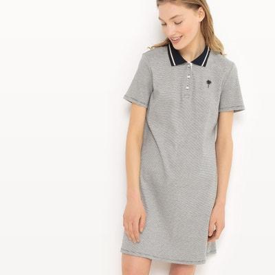 Pinstripe Polo-Shirt Collar Dress Pinstripe Polo-Shirt Collar Dress TOM TAILOR