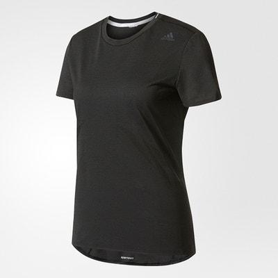 T-shirt lisa com gola redonda, mangas curtas ADIDAS PERFORMANCE