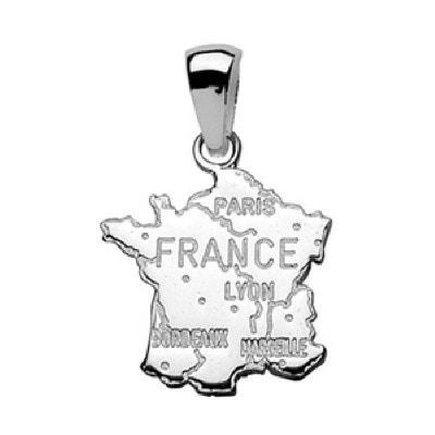 Pendentif Carte France Argent 925 SO CHIC BIJOUX