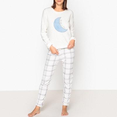 Langer Pyjama Rêve mit Materialmix Langer Pyjama Rêve mit Materialmix DODO