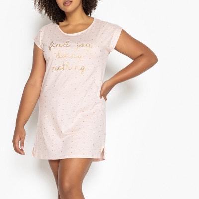 Camisa de dormir estampada, estilo T-shirt comprida Camisa de dormir estampada, estilo T-shirt comprida CASTALUNA