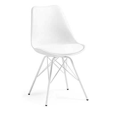 chaise ralf avec pieds en acier blanc chaise ralf avec pieds en acier blanc - Chaise Acier