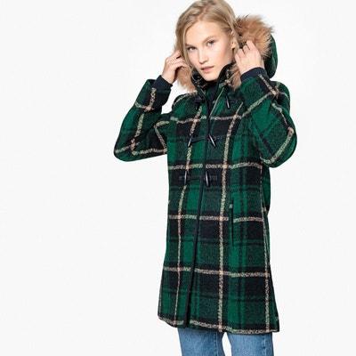 Duffle coat à carreaux en mélange laine Duffle coat à carreaux en mélange laine MADEMOISELLE R
