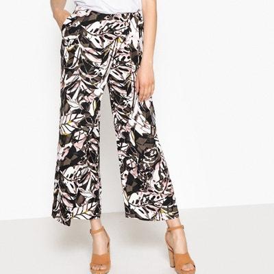 Szerokie spodnie z nadrukiem 7/8 Szerokie spodnie z nadrukiem 7/8 La Redoute Collections