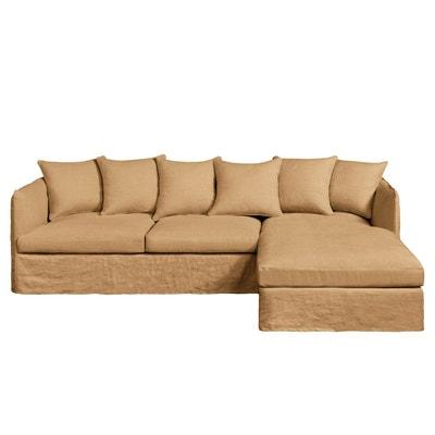 Canape d angle marron