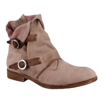 FB Fashion Boots Basses Femme - Blanc - Rose Clair, 41 EU
