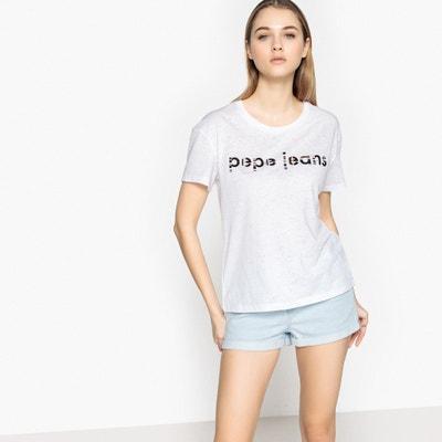 Effen T-shirt met ronde hals en korte mouwen PEPE JEANS