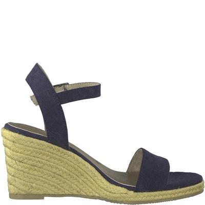 Livia Leather Wedge Sandals TAMARIS