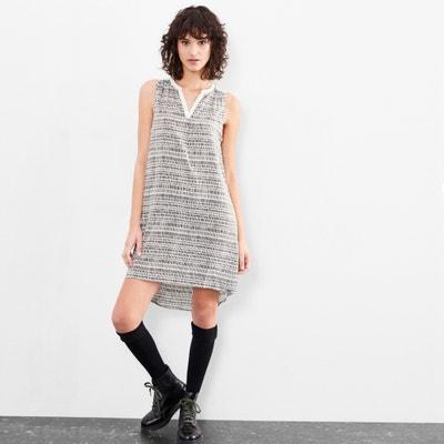 Lightweight Sleeveless Polka Dot Print Dress S OLIVER