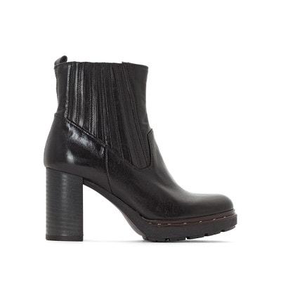 Boots cuir à talon Certa Boots cuir à talon Certa MJUS