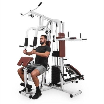 KLARFIT Ultimate Gym 9000 Station de musculation multifonction - acier blanc KLARFIT Ultimate Gym 9000 Station de musculation multifonction - acier blanc KLARFIT