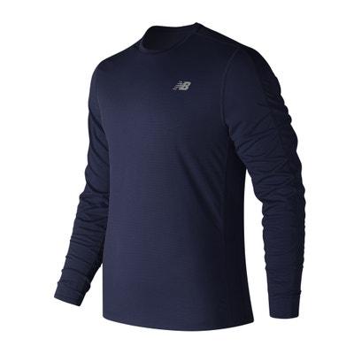 T-shirt scollo rotondo maniche lunghe NEW BALANCE