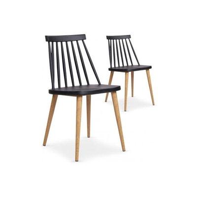 Lot de 2 chaises scandinaves es TAPLA DECLIKDECO