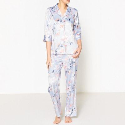 Pijama camisero de satén La Redoute Collections