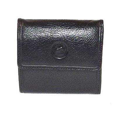 Petit portefeuille boutonné en cuir Petit portefeuille boutonné en cuir CHAPEAU-TENDANCE
