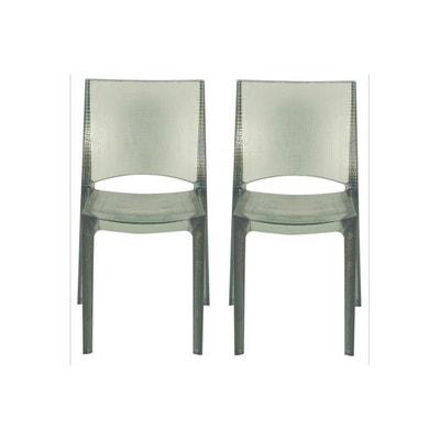 lot de 2 chaises grises fonces fumes transparentes nilo lot de 2 chaises grises fonces fumes