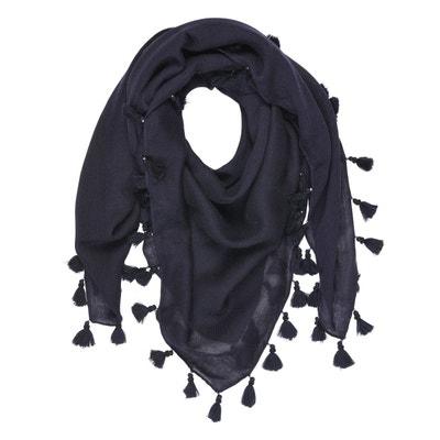 da9155c8b0a2 Foulard uni avec pompon et perles 100% laine Foulard uni avec pompon et  perles 100. Soldes. TIE RACK
