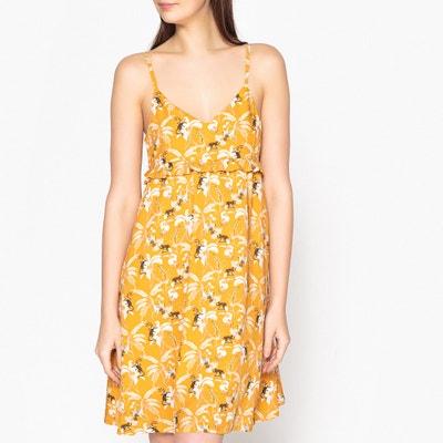 Bedrukte korte jurk met smalle bandjes MARIE SIXTINE