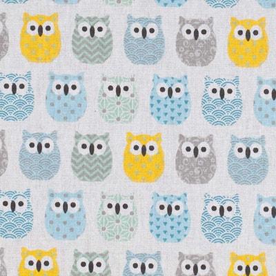 Tissu coton cretonne mini hiboux , Oeko-Tex® Tissu coton cretonne mini hiboux , Oeko-Tex® CAREFIL