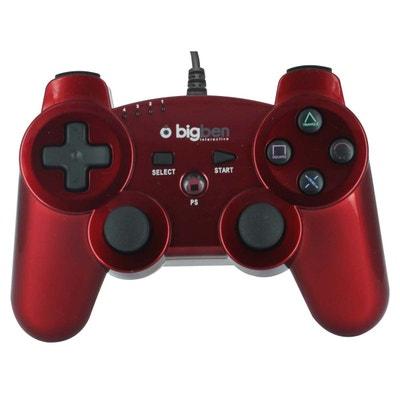 Mini manette filaire rouge métallisé pour PS3 BIG BEN