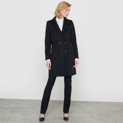 Abrigo raya diplomática, paño de lana Abrigo raya diplomática, paño de lana La Redoute Collections