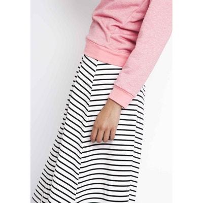 Striped 3/4 Length Midi Pencil Skirt COMPANIA FANTASTICA