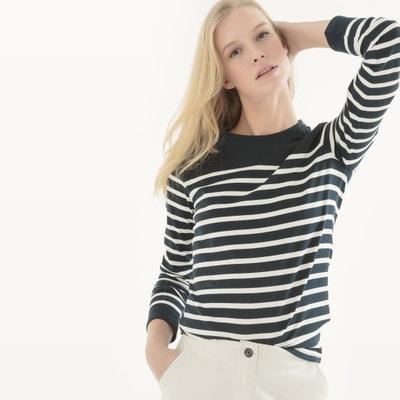T-shirt marynarski z długim rękawem La Redoute Collections