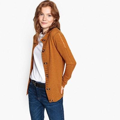 Cardigan laine d agneau, col rond boutonné LA REDOUTE COLLECTIONS 24bf8ee7c664
