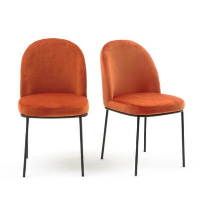 Cadeira acolchoada, em veludo (lote de 2), TOPIM Cadeira acolchoada, em veludo (lote de 2), TOPIM La Redoute Interieurs