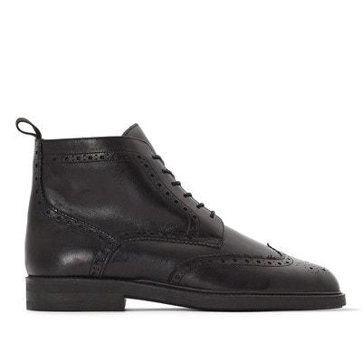Boots cuir à lacets Boots cuir à lacets LA REDOUTE COLLECTIONS