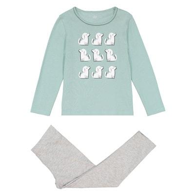 Pyjama manches longues, imprimé chiens, 3 - 12 ans La Redoute Collections