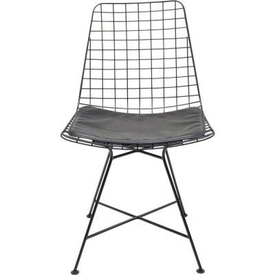 chaise grid noire kare design kare design - Chaise Noire Design